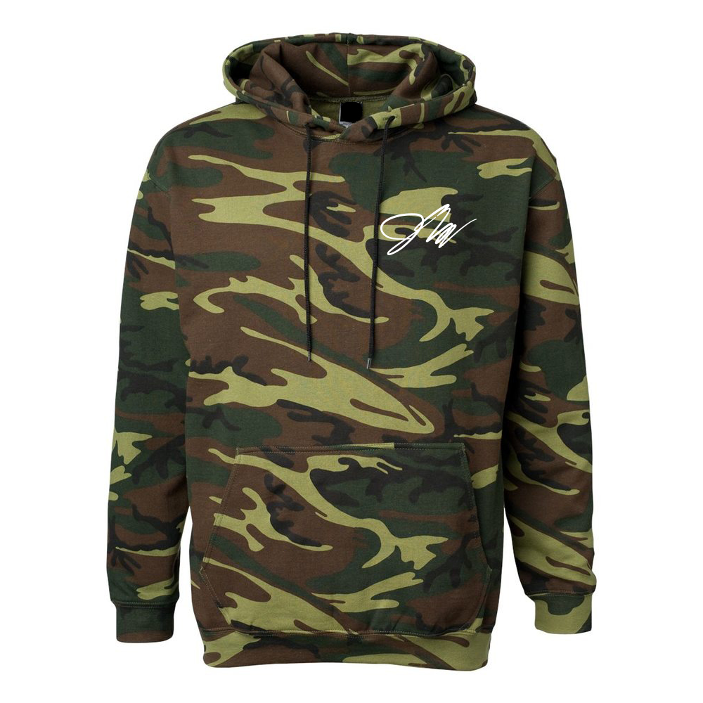 Get the stylish look with camo hoodie