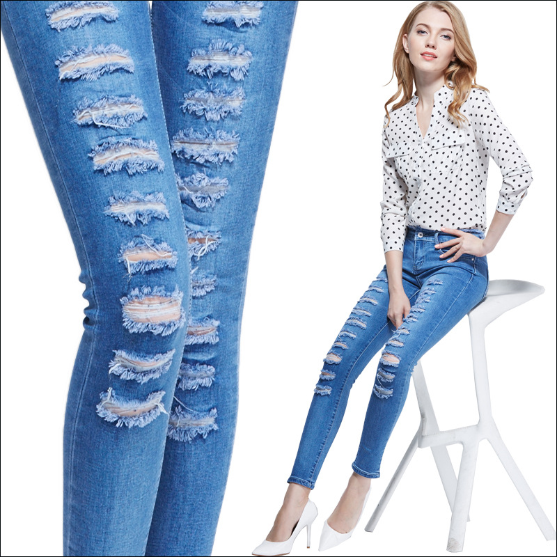 jeans fashion aliexpress.com : buy new fashion boyfriend jeans for women ripped mid waist  slim SFHAVDF