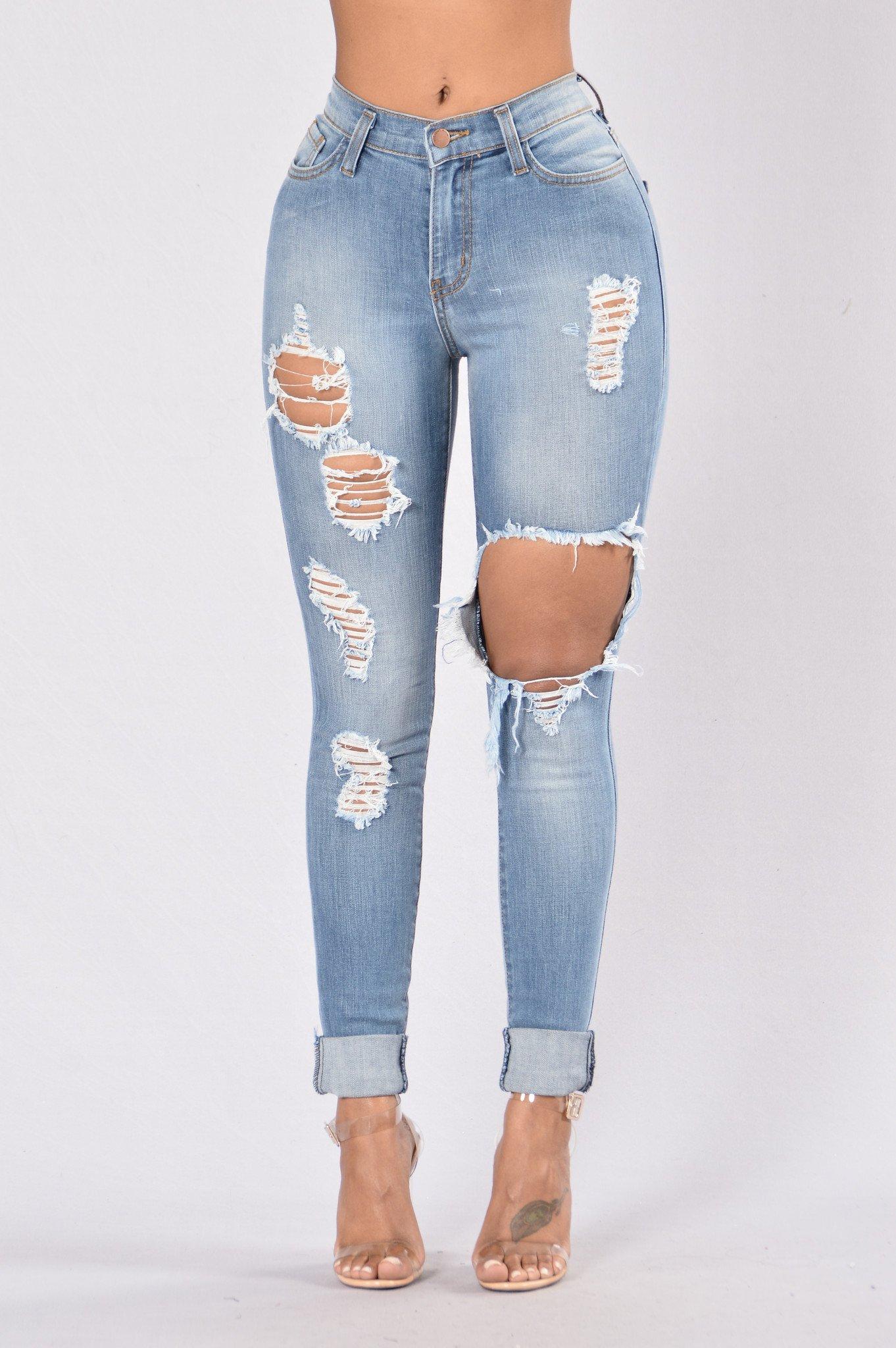 jeans fashion glistening jeans - medium wash CKBGTPJ