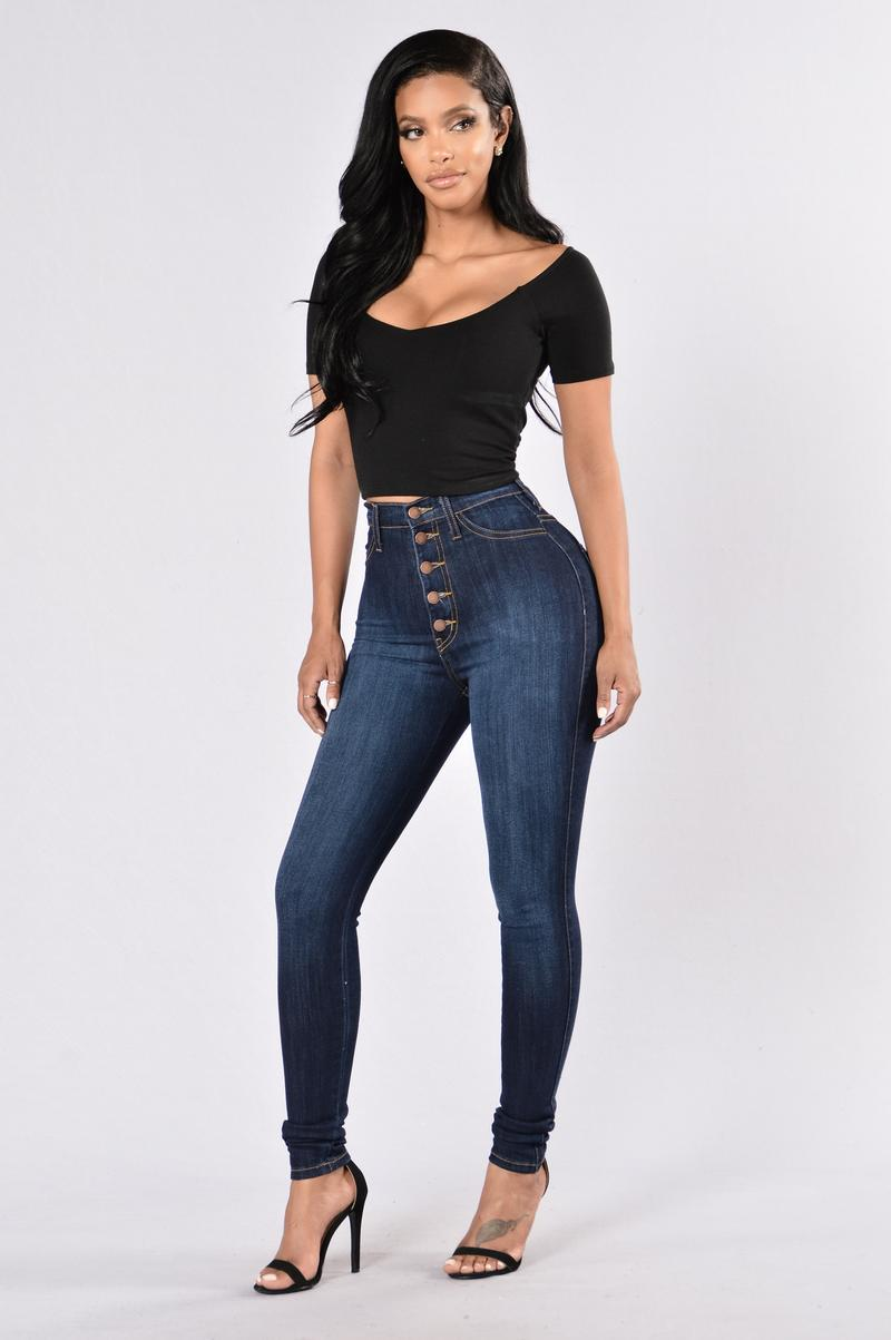 jeans fashion push my buttons jeans - dark IAWSXZE