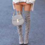 Getting fashionable with The grey suede boots