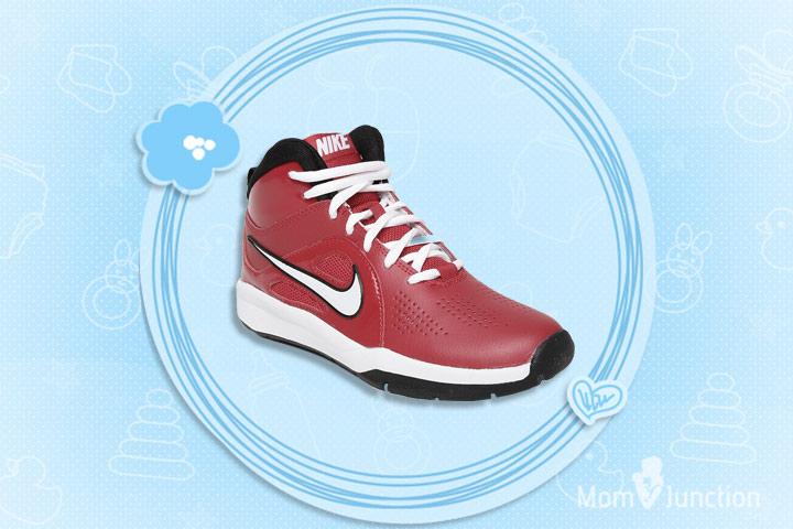 kids nike shoes nike boys red team hustle d 6 gs leather basketball shoes: GUDZOQW