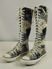 Knee High Converse converse all star chuck taylor knee high patchwork boot sneakers mens 5  womens EQVOHJG