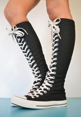 Knee High Converse i cannot save this enough! i need these so bad! ughhhhhhhhhhhh i need to. URWSFJS