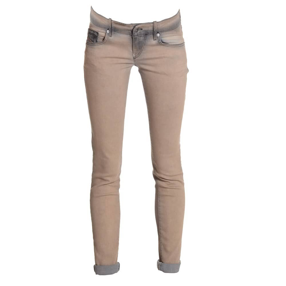 ladies beige jeans ETGZWMV
