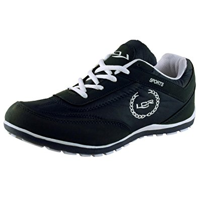 lancer shoes lancer menu0027s black and white mesh running shoes - 6 uk (perth black white- OOBARWH