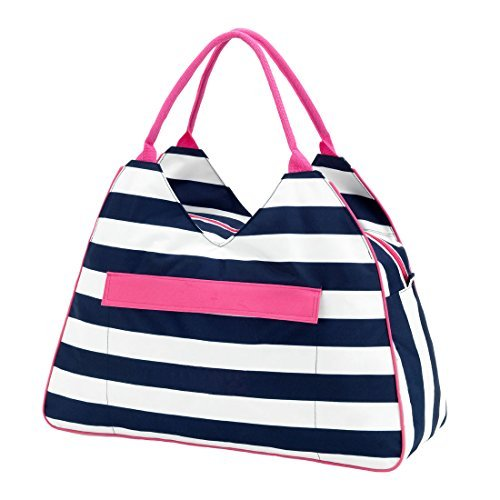 large water resistant beach bag high fashion print with zipper topcan be  personalized GKAWZOF