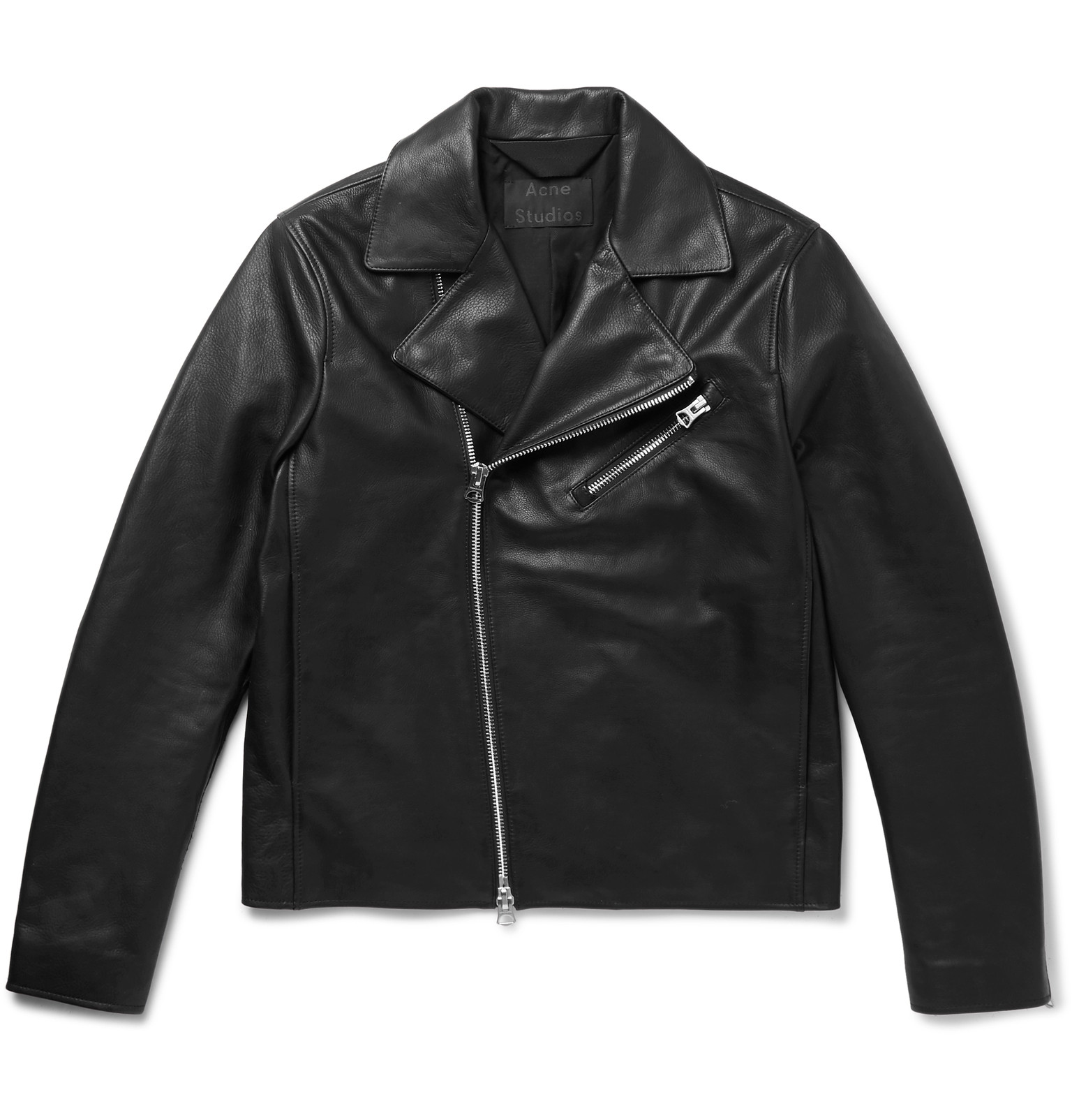 leather jackets acne studios - axl slim-fit suede-panelled leather jacket LXYINGY
