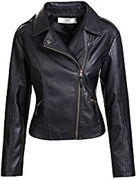 leather jackets artfasion womenu0027s slim tailoring faux leather pu short jacket coat VFVQKOY