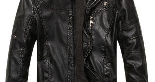 leather jackets chouyatou menu0027s vintage stand collar pu leather jacket at amazon menu0027s  clothing store: IZGLFAE