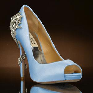 light blue wedding shoes - my glass slipper INNBSHE