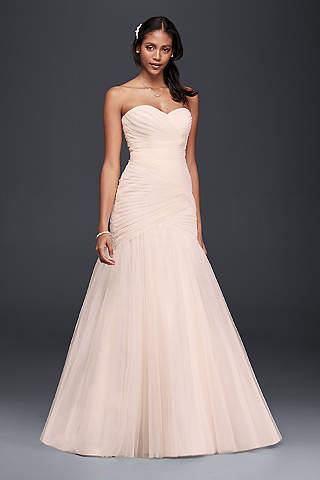 light pink u0026 blush wedding dresses | davidu0027s bridal BWNKGUV