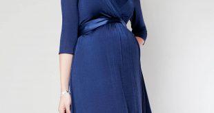maternity wear willow maternity dress (midnight blue) by tiffany rose QMJDRRY