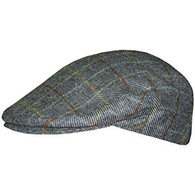 menu0027s irish hats of ireland tweed flat cap - plaid - small UMJJQMT