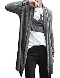 mens cardigan allegra k men shawl collar high-low hem long cardigan BELYSYT