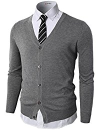 mens cardigan h2h mens casual slim fit knitted basic designed v-neck long sleeve cardigan PUPIXME