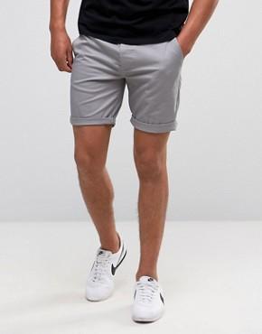 mens chino shorts asos slim chino shorts in warm gray UPJQGQU