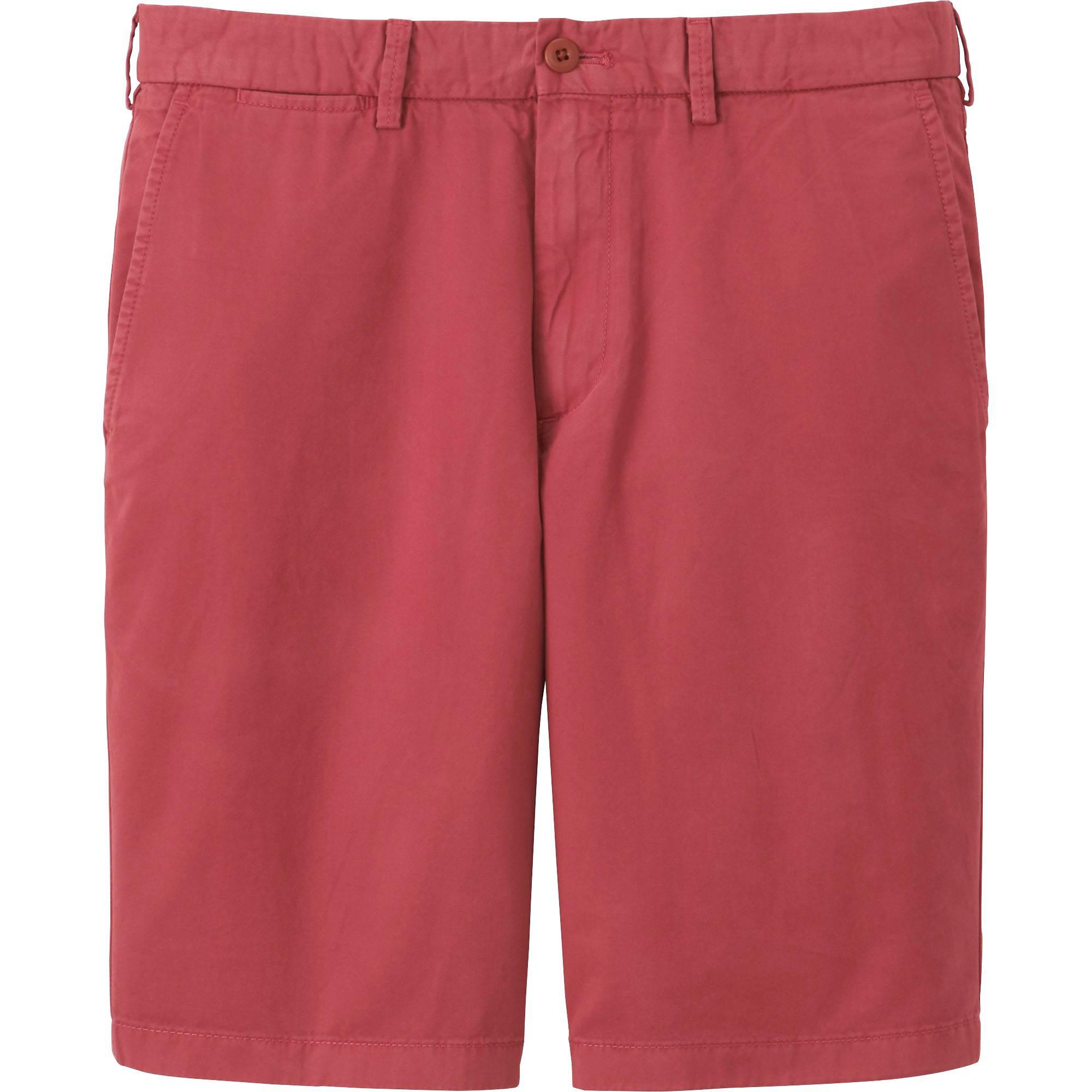 mens chino shorts men chino shorts, wine, small VLFWJUN