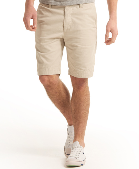 mens chino shorts superdry commodity chino shorts beige KYFURWJ