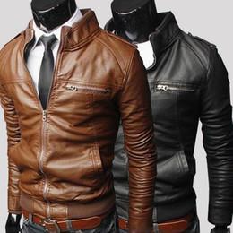 mens jackets 2015 menu0027s vintage soft pu leather jacket long sleeve long slim shell  leather MVBUBDS
