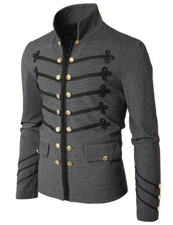 mens jackets doublju mens jacket with button detail $30.09  http://steampunkclothingsource.com/steampunk PSTTSUW