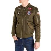mens jackets leather u0026 faux leather; bomber jackets ... JAOPKPX