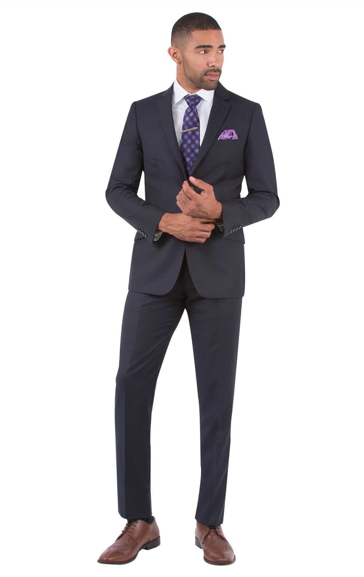mens suits -50% off midnight stripe slim fit suit-midnight ... LIXRITW