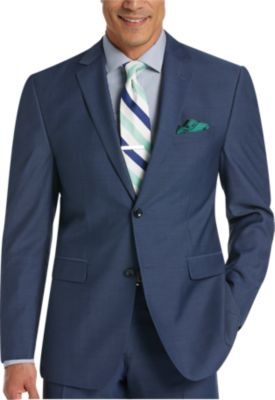 mens suits perry ellis portfolio blue slim fit suit - menu0027s slim fit | menu0027s wearhouse AZVHLOE
