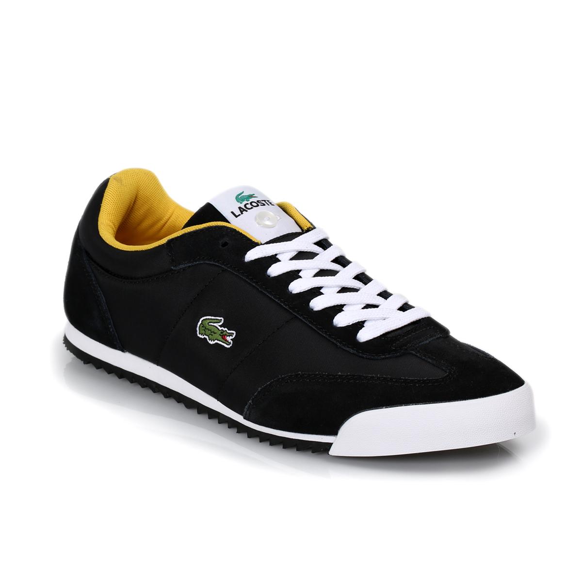 mens trainers menu0027s black lacoste trainers QCVVIZK