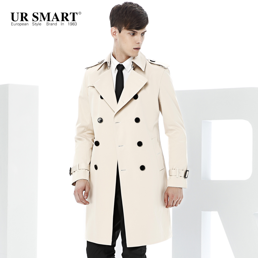 mens white trench coat EAOUZAQ