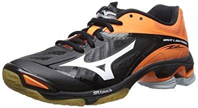 mizuno volleyball mizuno womenu0027s wave lighting z2 volleyball shoe, black/orange, ... TUXBZOF