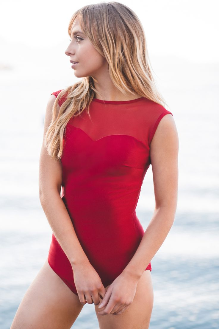 modest swimsuits the maria, scarlet mesh one-piece swimsuit XPFOCQC