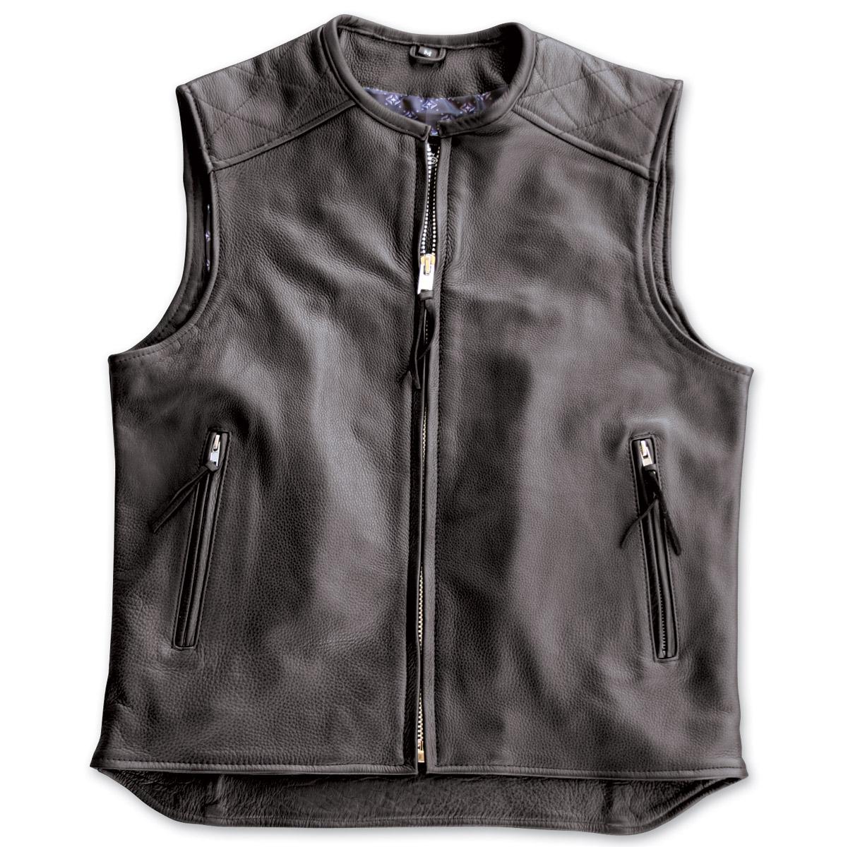 motorcycle vest crank u0026 stroker supply hardball motorcycle black leather ... KYWMNDE