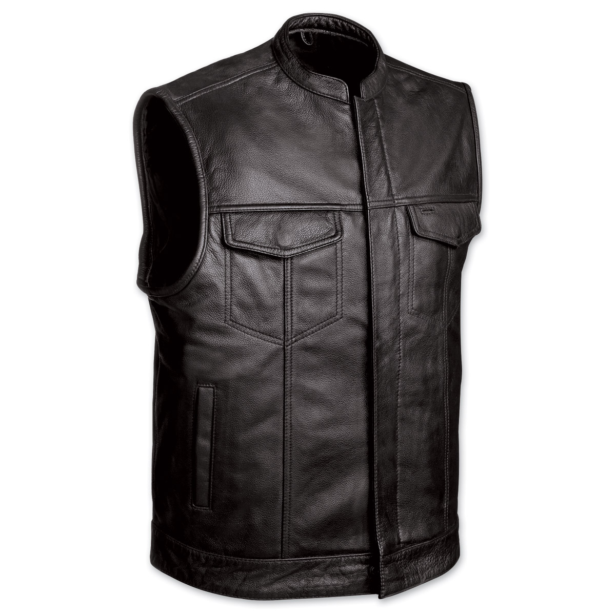 motorcycle vest menu0027s club motorcycle black leather vest OWAINGG
