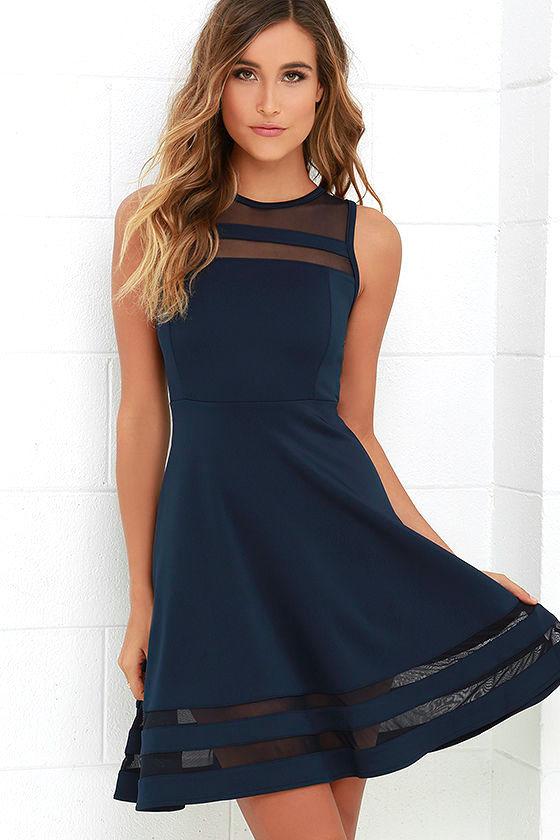 navy blue dress 1 BEMSLSQ