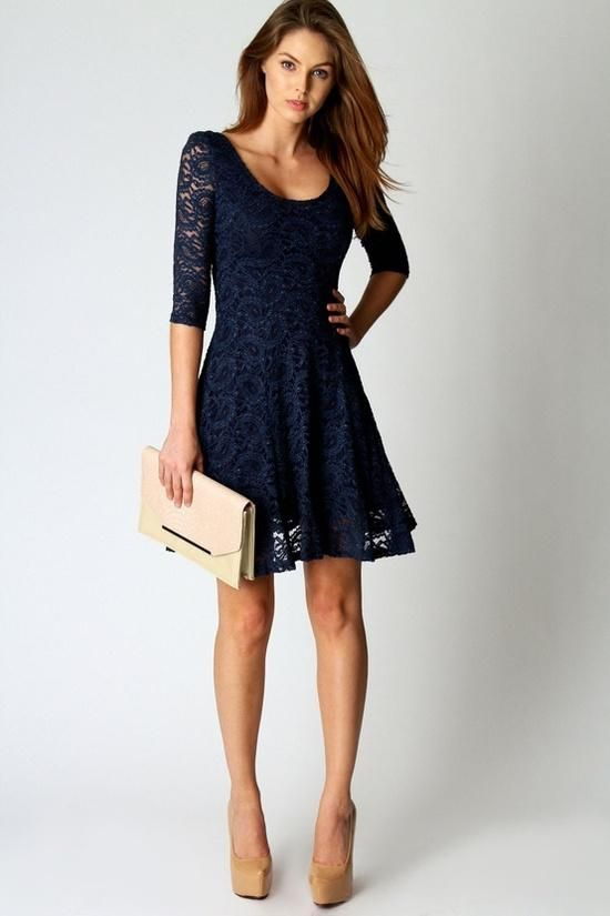 navy blue dress delicate lace dress trends for women YBDOHLT