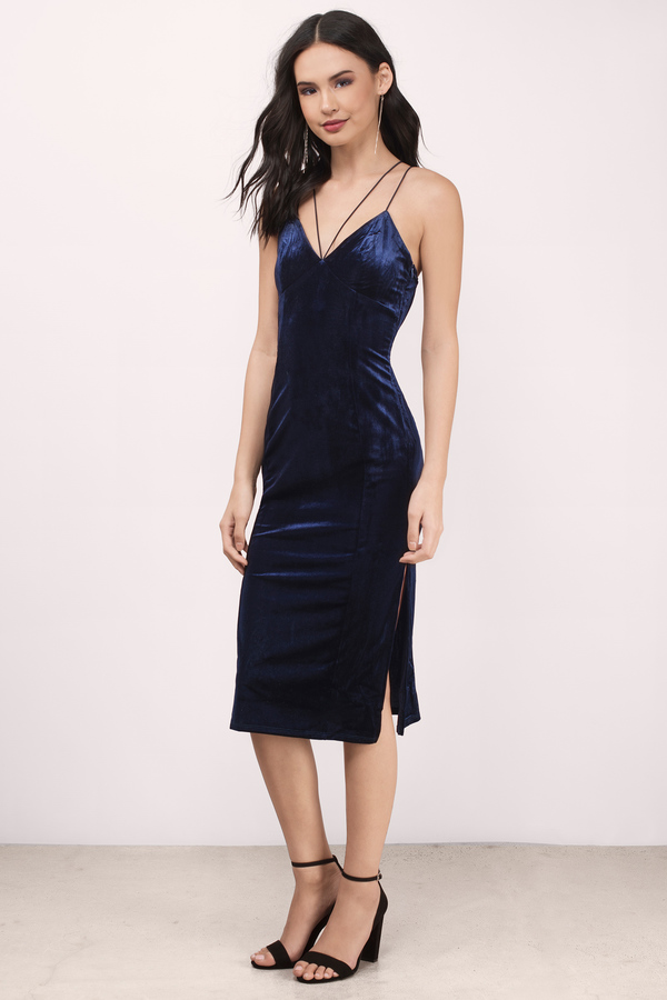 navy blue dress navy blue dresses, navy, only one velvet midi bodycon dress, … XWKJZEG
