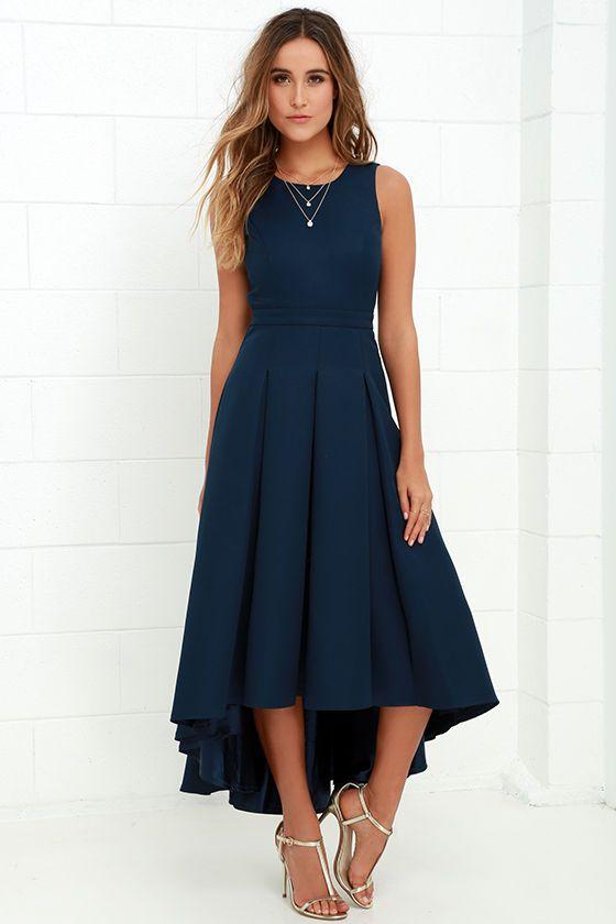 navy blue dress paso doble take navy blue high-low dress JTHKEKK