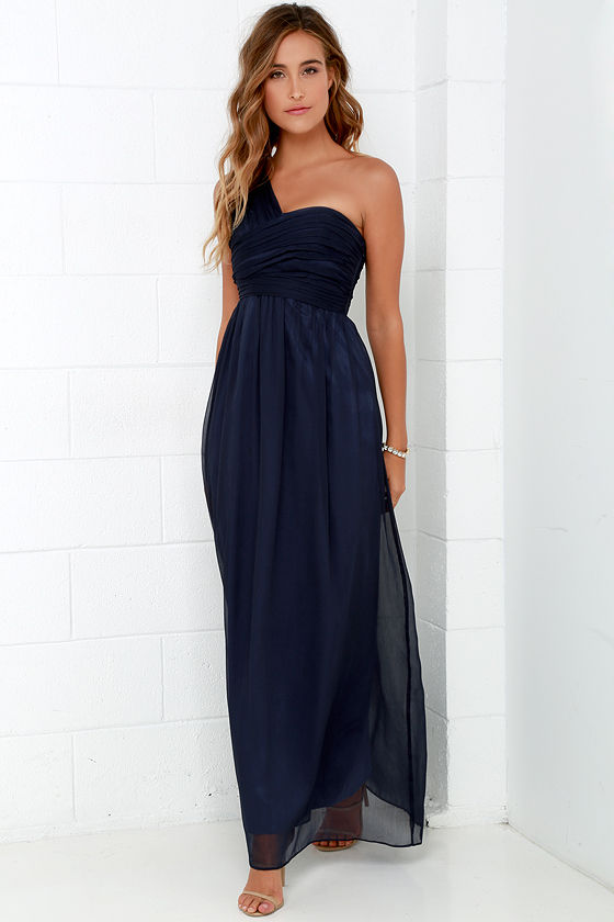 Navy Blue Maxi Dress lovely navy blue dress - maxi dress - chiffon dress - $98.00 ESAEAJW