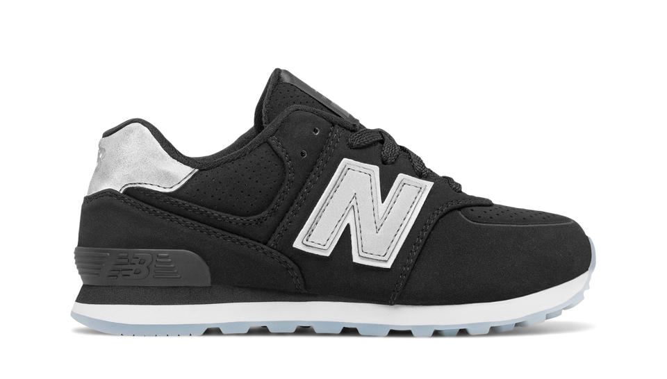 New Balance 574 Black new balance 574 luxe rep, black ZNRXPJI