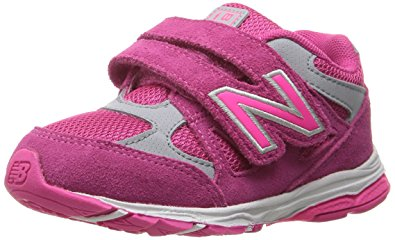 New Balance Kids new balance girlsu0027 kv888 running shoe, pink/grey, 2 medium us infant NBKGGYH