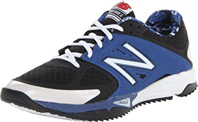 new balance turf shoes new balance menu0027s t4040 turf baseball shoe,black/blue,12.5 ... RHCWBCY