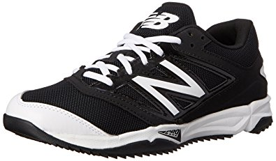 new balance turf shoes new balance menu0027s t4040v3 turf baseball shoe, black/white, 7.5 2e us ZPWQRME