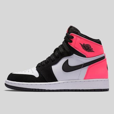 nike air jordan 1 retro high og gg (gs) black hyper pink white SFZPYXL