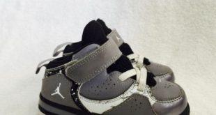 nike baby shoes nike jordan toddler boys baby shoes sz 7c 7 gray black oreo shoes IMBJKNQ