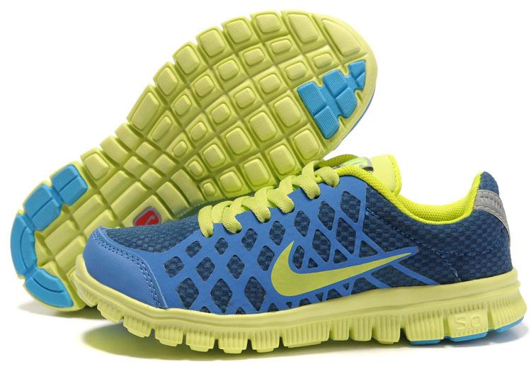 nike free 5.0 kids running shoes blue yellow ITUXVKZ