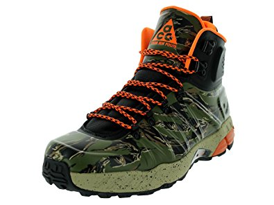 nike hiking boots nike menu0027s zoom mw posite black/total orange/bmb/lgn green boot 8 ZFGEYIB