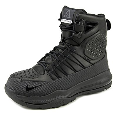 nike hiking boots nike mens zoom superdome acg tactical leather boots black/black 654886-040  size 8 NIKFRIT