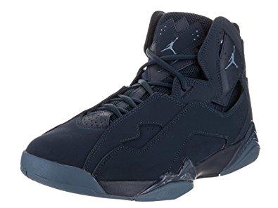 nike jordan shoes nike jordan menu0027s jordan true flight obsidian/ocean fog basketball shoe 10  men us ZVNCPHC