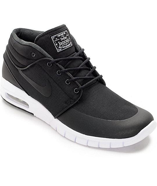 nike sb janoski air max mid black u0026 white skate shoes XWGSOLA